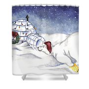 Are You In There Santa Shower Curtain