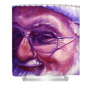 Are You Sure You Have Been Nice Shower Curtain by Shannon Grissom