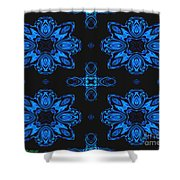 Area Blue Abstract Shower Curtain