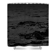 Area Sweep Bw Shower Curtain
