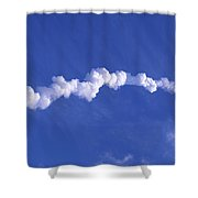 Area1x Rocket Exhaust Trail Shower Curtain