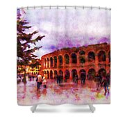 Arena Di Verona Shower Curtain