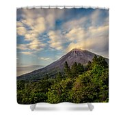 Arenal At Dusk  Shower Curtain