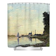 Argenteuil, Late Afternoon Shower Curtain