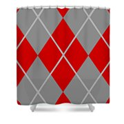 Argyle Diamond With Crisscross Lines In Paris Gray N02-p0126 Shower Curtain