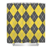 Argyle Diamond With Crisscross Lines In Pewter Gray N05-p0126 Shower Curtain
