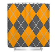 Argyle Diamond With Crisscross Lines In Pewter Gray T03-p0126 Shower Curtain