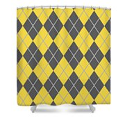 Argyle Diamond With Crisscross Lines In Pewter Gray T05-p0126 Shower Curtain