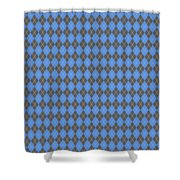 Argyle Diamond With Crisscross Lines In Pewter Gray T18-p0126 Shower Curtain