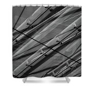 Aria Hotel Canopy Abstract Shower Curtain