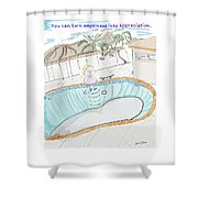 Arial Skates Pools Shower Curtain