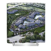 Arial View Exterior Rendering Design Ideas Shower Curtain