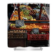 Arica Chile Fruit Stand Shower Curtain