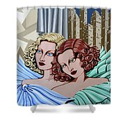 Arielle And Gabrielle Shower Curtain by Tara Hutton