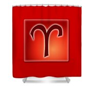 Aries  March 20 - April 19 Shower Curtain