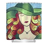 Aristocratic Lady Shower Curtain