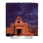 Arizona Adobe Mission Church 1939-2016 Shower Curtain