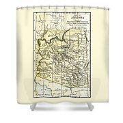 Arizona Territory Antique Map 1891 Shower Curtain