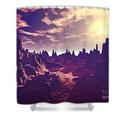 Arizona Canyon Sunshine Shower Curtain