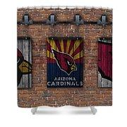 Arizona Cardinals Brick Wall Shower Curtain