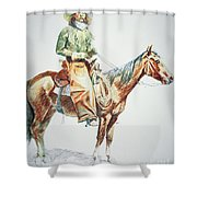 Arizona Cowboy, 1901 Shower Curtain