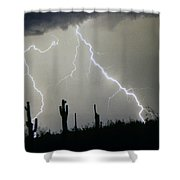 Arizona Desert Storm Shower Curtain