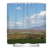 Arizona Farming Shower Curtain
