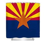 Arizona Flag Art Shower Curtain