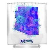 Arizona Map Watercolor 2 Shower Curtain
