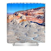 Arizona- Paria Plateau- White Pocket Shower Curtain