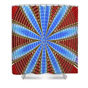 Arizona Saguaro Forest Abstract #2 Shower Curtain