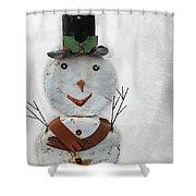Arizona Snowman Shower Curtain