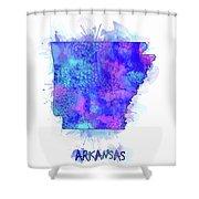 Arkansas Map Watercolor 2 Shower Curtain