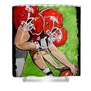 Arkansas Razorbacks Football Shower Curtain