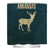 Arkansas State Facts Minimalist Movie Poster Art Shower Curtain