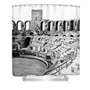 Arles Amphitheater A Roman Arena In Arles - France - C 1929 Shower Curtain