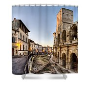 Arles Streets And Arena Shower Curtain