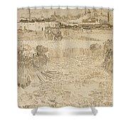 Arles View From The Wheatfields Shower Curtain