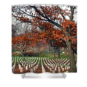 Arlington Cemetery In Fall Shower Curtain by Carolyn Marshall