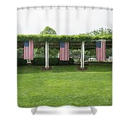 Arlington Flags Shower Curtain