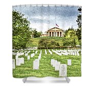 Arlington House Half Mast  Shower Curtain