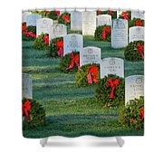 Arlington National Cemetery At Christmas Shower Curtain