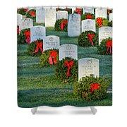Arlington National Cemetery At Christmas Shower Curtain