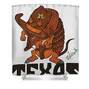 Armadillo Sheriff  Shower Curtain
