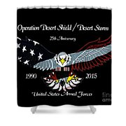 Armed Forces Desert Storm Shower Curtain