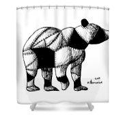 Armored Bear Shower Curtain