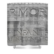 Armory Signage Shower Curtain