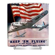 Army Air Corps Recruiting Poster Shower Curtain