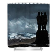 Army Commando Memorial  Shower Curtain