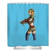 Army Girl B Shower Curtain